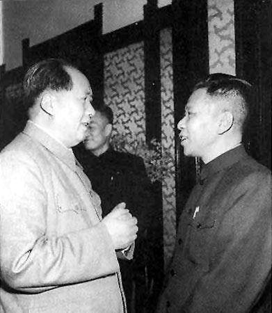 mao and zhou 1956