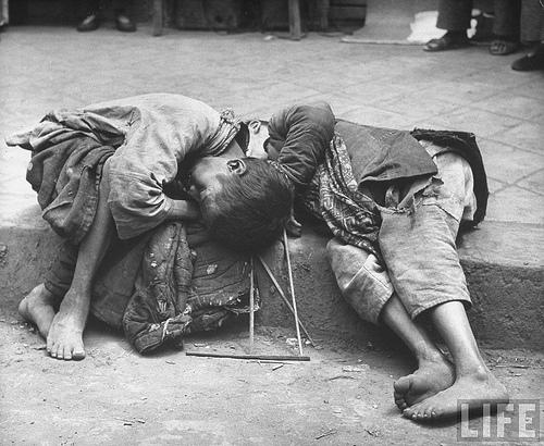 starving children china