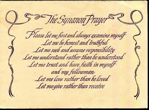 synanon prayer