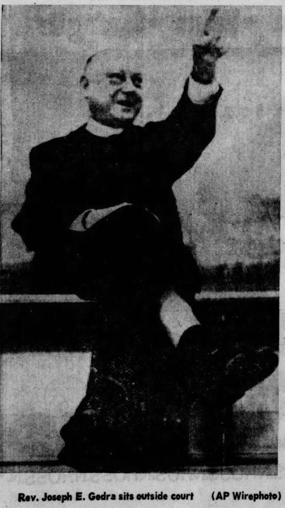 Father Joseph E. Gedra, 1975