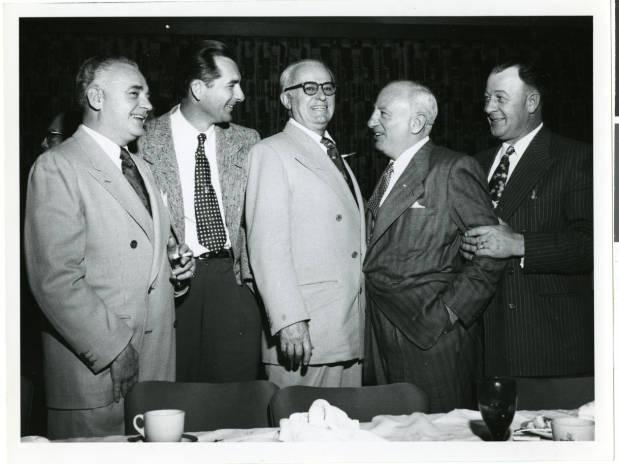 Wilbur Clark, Cliff Jones, L.B. 'Tutor' Scherer, Morris Kleinman