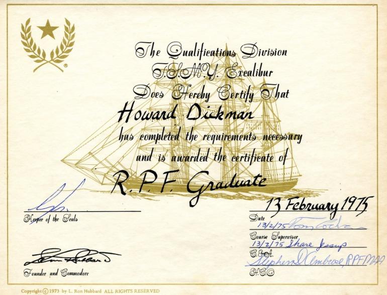 rpf graduation certificate