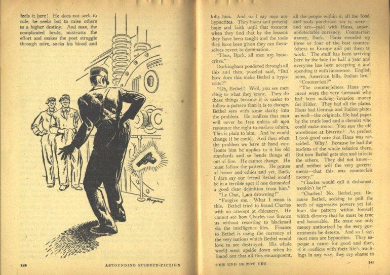 ASTOUNDING endisnotyet hubbard pontificating about man oct 1947