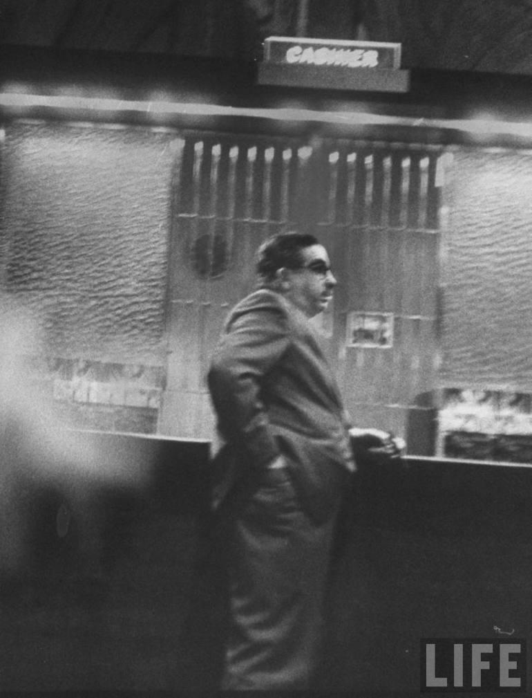Jake Lansky brother of gangster gambler Meyer Lansky in Nacconal casino 1958