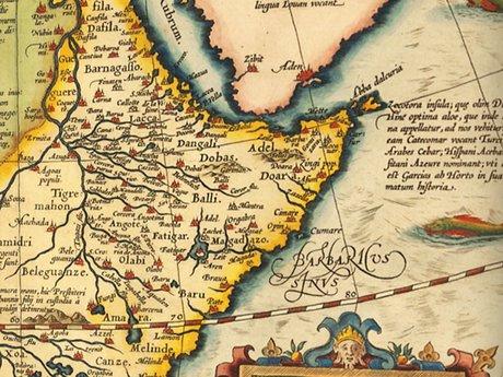 Abraham Ortelius - Prester John map (Africa) (1603) - closeup