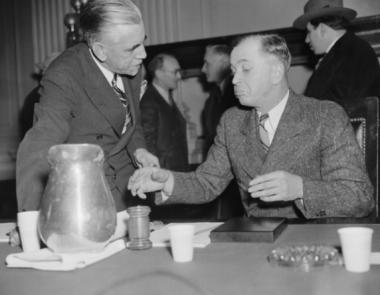 William Pelley and Joe Stevens at Dies Hearing 1940