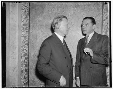 Senator William E. Borah and Senator Gerald P. Nye in 1937